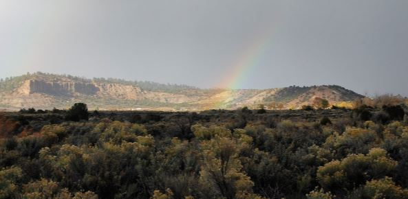 Cuba, NM Landscape with Rainbow