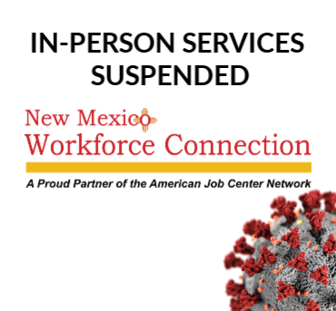 In-person services suspended for NM Workforce Connection Offices